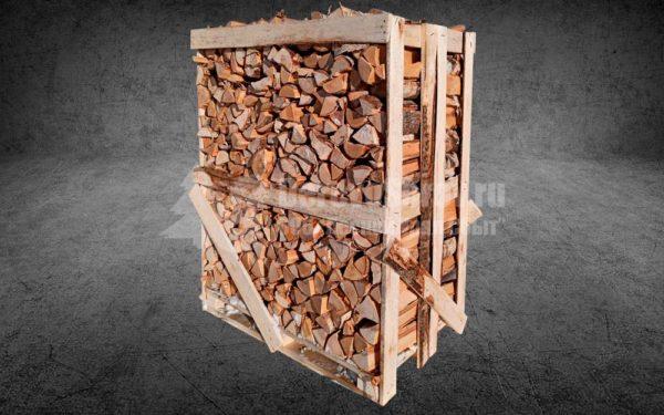 Купить дрова колотые сухие в ящике 1 куб