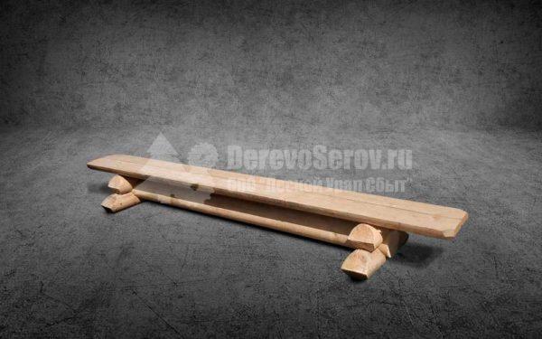 Купить лавку из бревна осины 3 метра