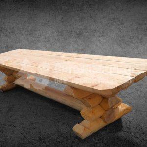 Стол из бревна осины 3 метра